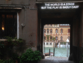 photo of artwork taken in Venice
